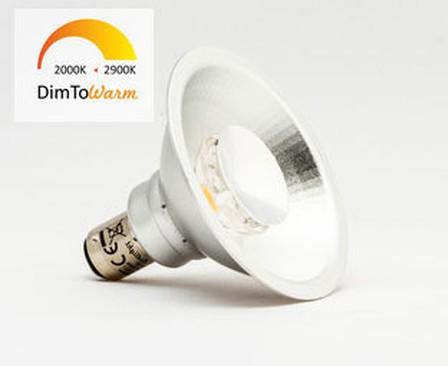 AR70 LED spot 8W 12Volt bajonet DimToWarm