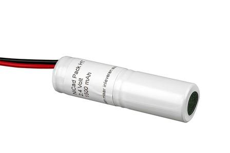 Accu noodverlichting Ni-Cd 1600 mAh 2,4 Volt