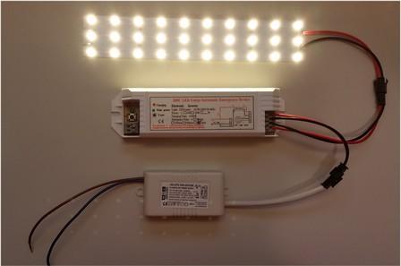 LED noodvoeding in externe behuizing