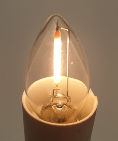 LED Filament minikaars 1 Watt, 2200K, E14-fitting