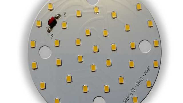 LED ombouwset rond 8W 8cm 3000k