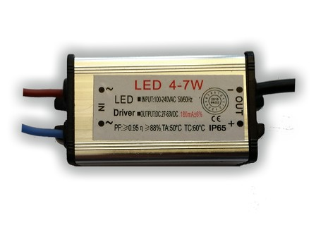 LED driver 180mA, 27-63V, 4 - 7 Watt