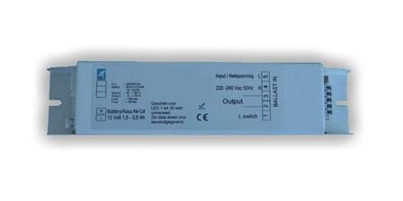 UPS voor noodverlichting van een tot 9 Watt lamp, 1000mAH