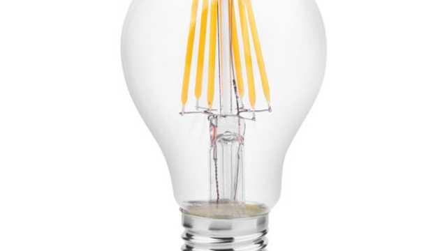 Standaard led-Filament lamp rond 60mm 2000-2700K, E27, 5W dim to warm