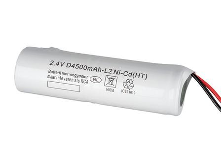 Accu noodverlichting Ni-Cd 4500 mAh 2,4 Volt